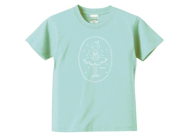 小さなバレリーナ/メロン/キッズTシャツ