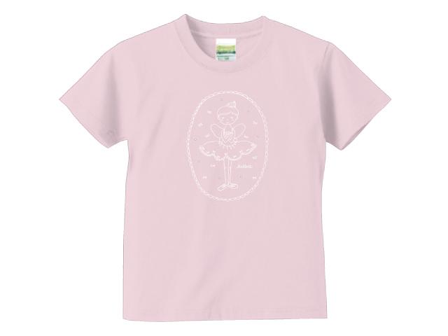小さなバレリーナ/ライトピンク/キッズTシャツ