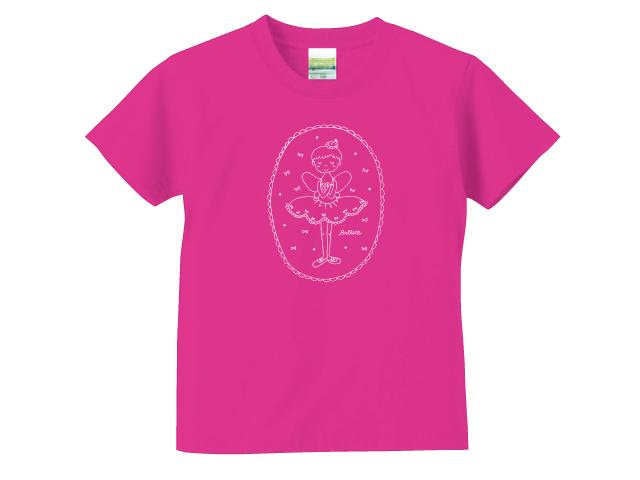 小さなバレリーナ/トロピカルピンク/キッズTシャツ