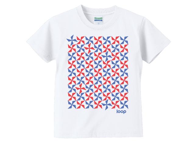 2色の風車キッズTシャツ