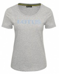 BOLD PRINT LADIES T-SHIRT - grey melenge