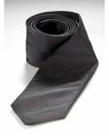 LOTUS SILK TIE - charcoal -