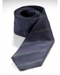 LOTUS SILK TIE - dark blue -