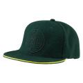 FLAT PEAK GREEN BASEBALL CAP