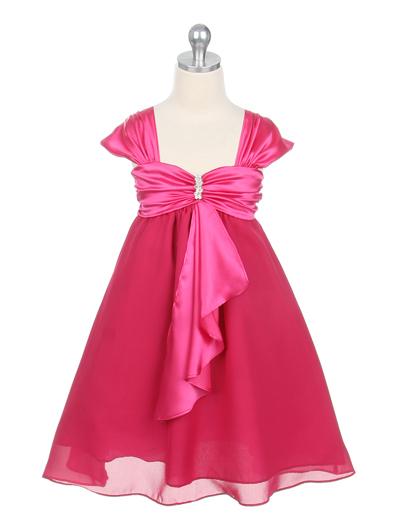 子供ドレス キャサリン フューシャ