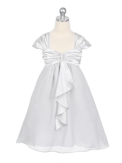 子供ドレス キャサリン シルバー