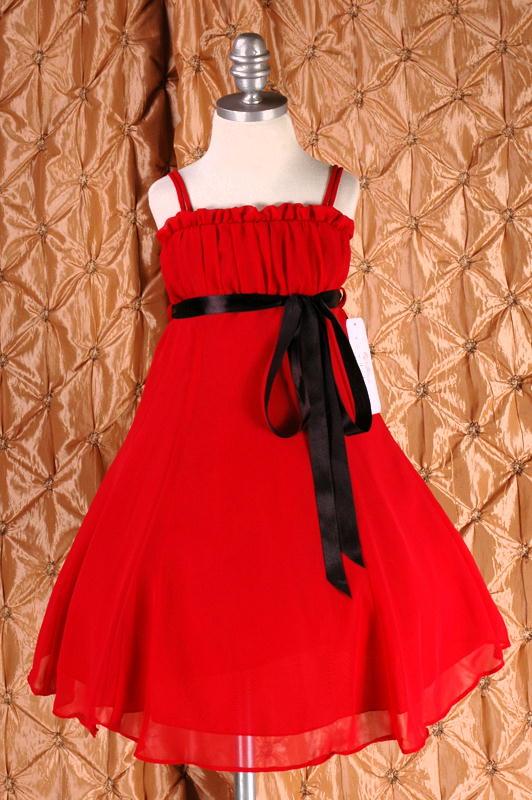 子供ドレス ドルチェ レッド1