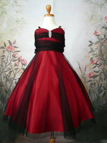 [完売品☆再入荷なし]シックでお洒落なドレス アンジェ レッドブラック