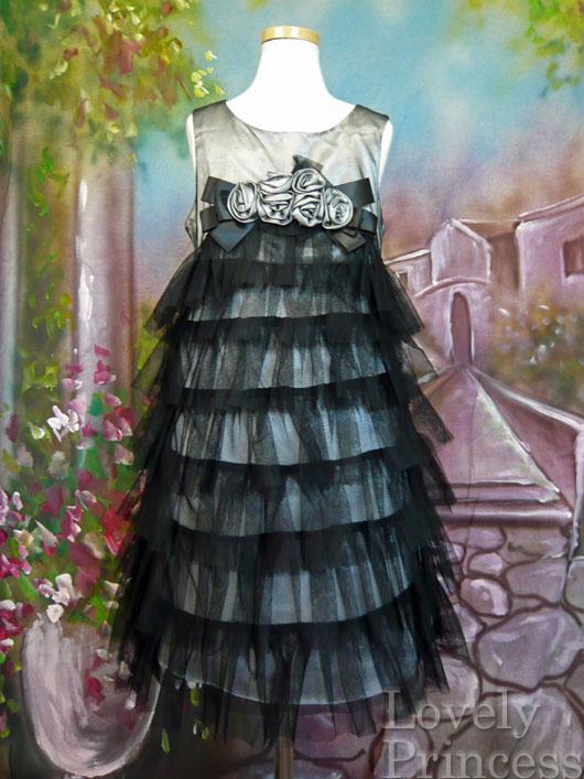 子供ドレス モード ブラック/シルバー