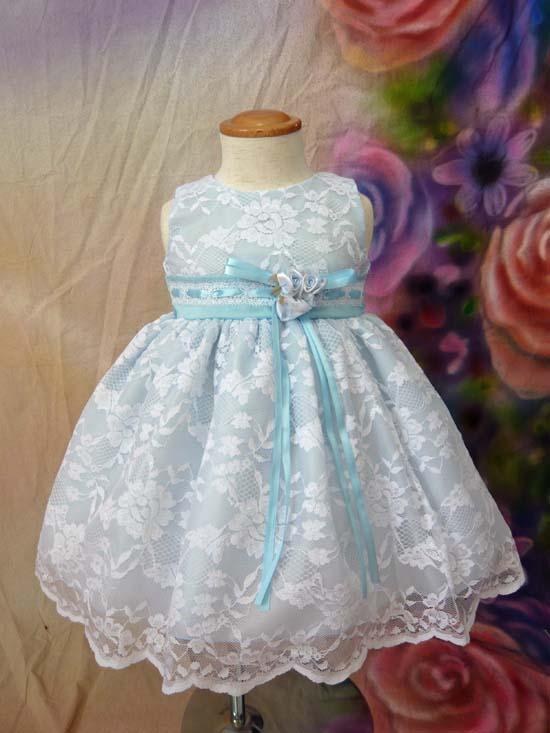 ベビードレス メロディーヌ ブルー