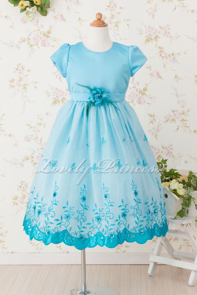 子供ドレス パトリシア アクアブルー