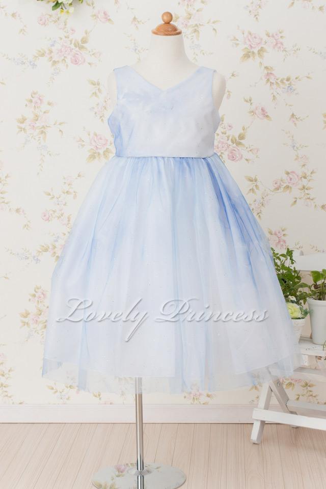 子供用ドレス ロレーヌ ブルー