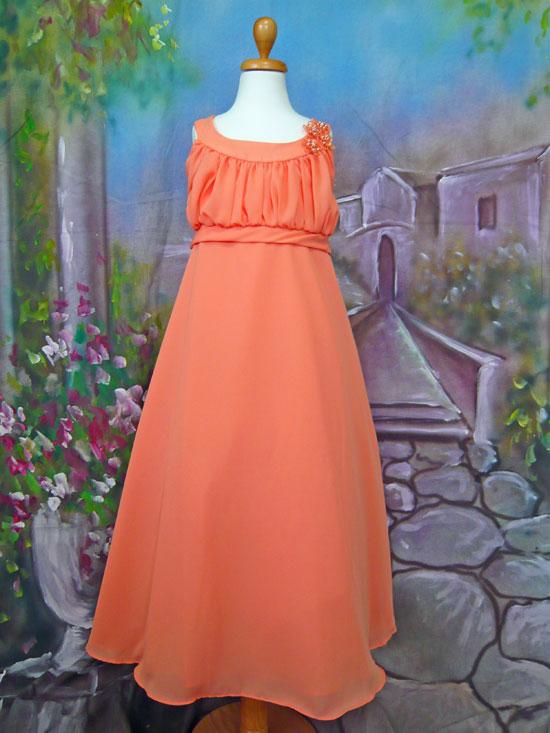 子供ドレス アイリーン オレンジ