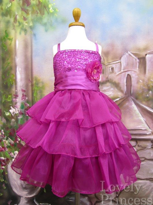 ステージ衣装・結婚式に!子供ドレス フィービー フューシャ