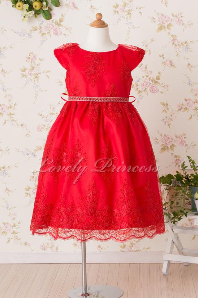 子供用ドレス エミリー レッド