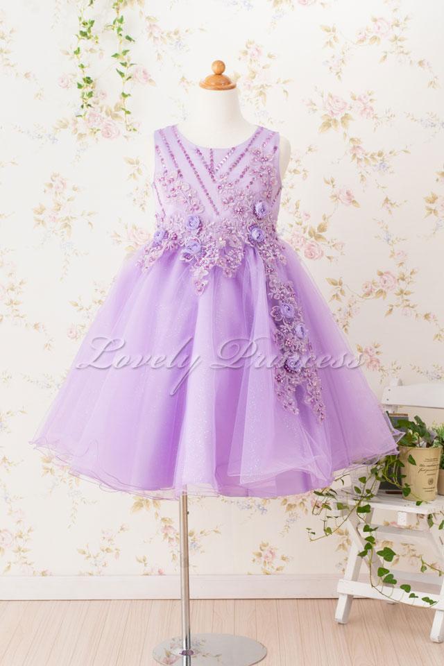 子どもドレス(CC9022-L) ライラック