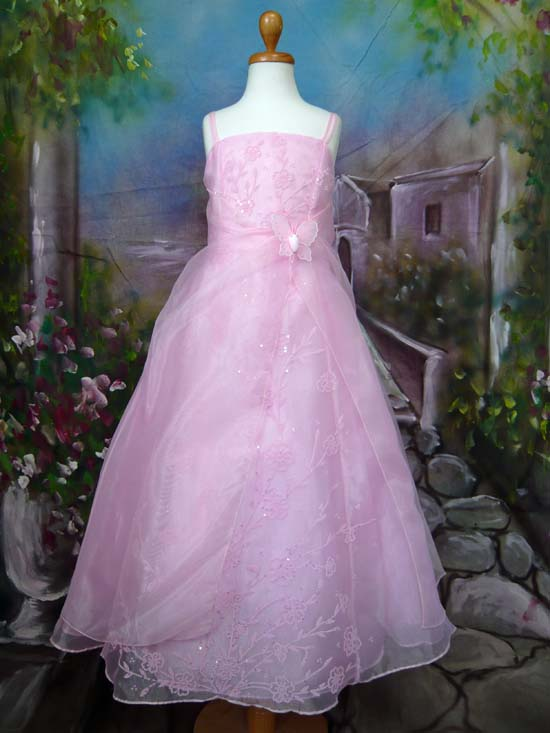 子供ドレス パピヨン ピンク