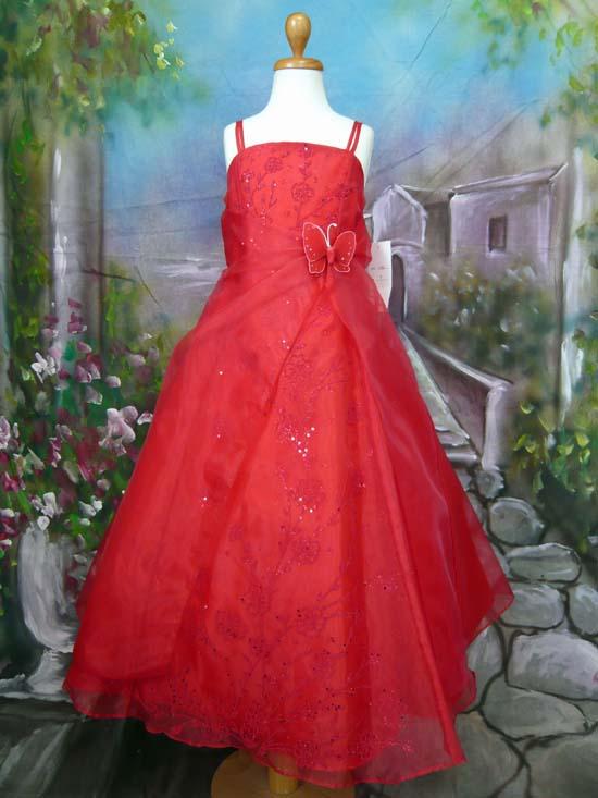 子供ドレス パピヨン レッド