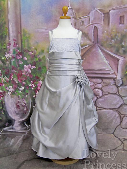 子供ドレス ロザンヌ シルバー