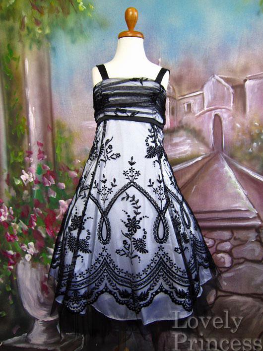 子供ドレス アネット ホワイトブラック