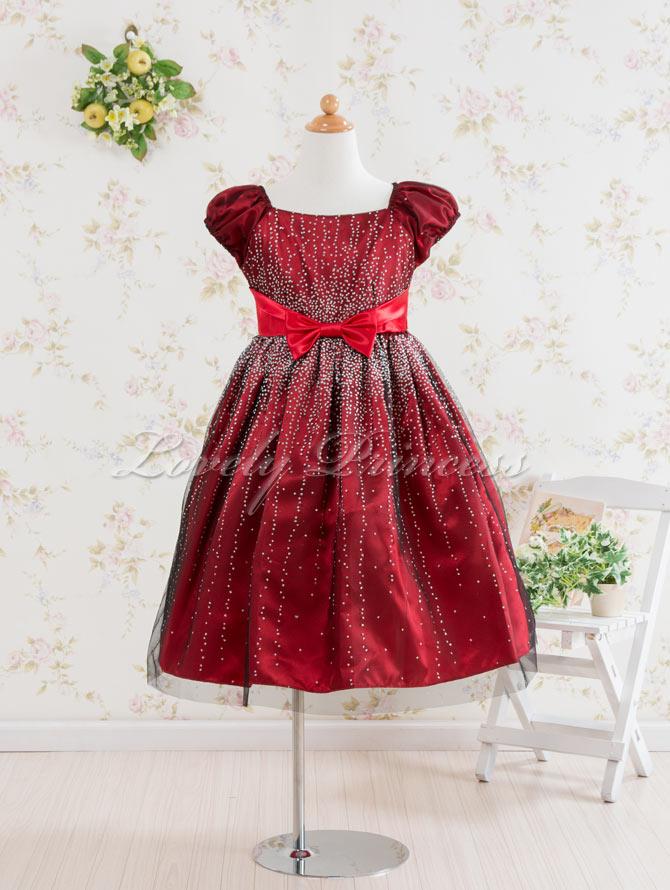 子供ドレス エレーヌ レッド