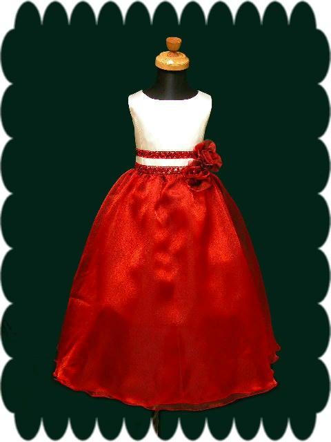 子供ドレス オデット レッド1