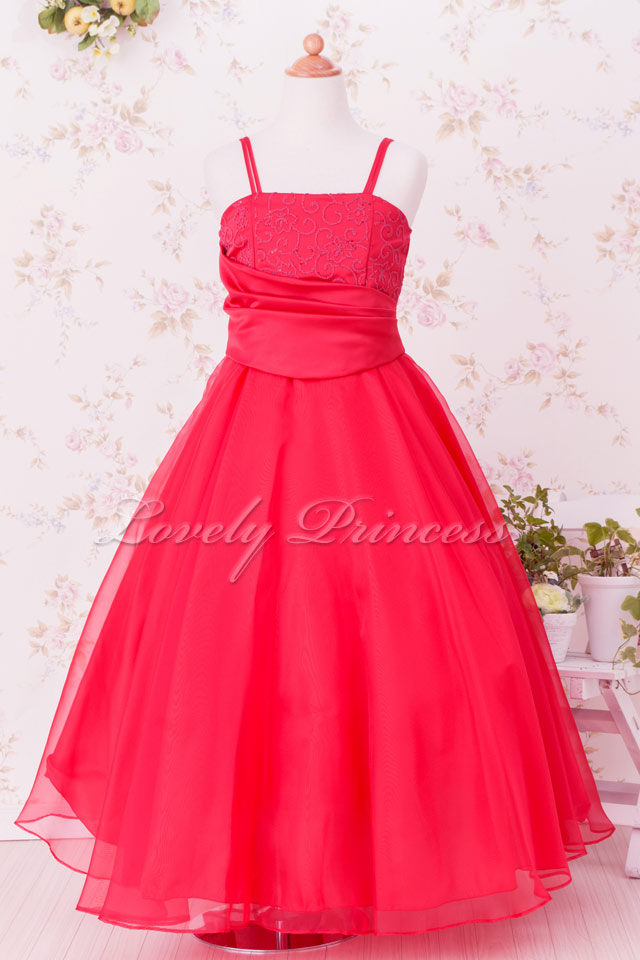子供用ドレス ジュニアドレス ジェニー レッド