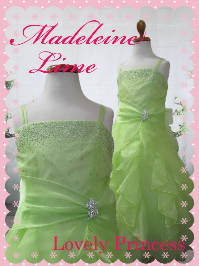 子供ドレス マドレーヌ ライム
