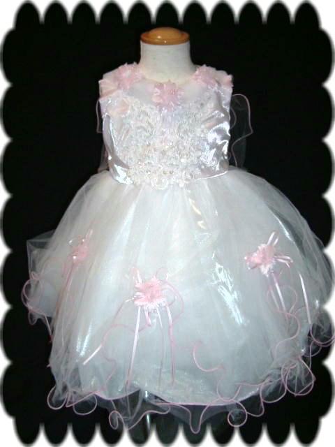 ベビードレス リリィ ピンク1
