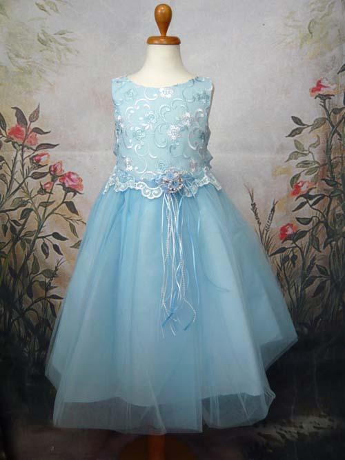 子供ドレス キャンディ ブルー
