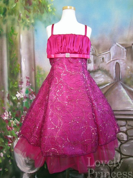 子供用ドレス アラーナ フューシャ