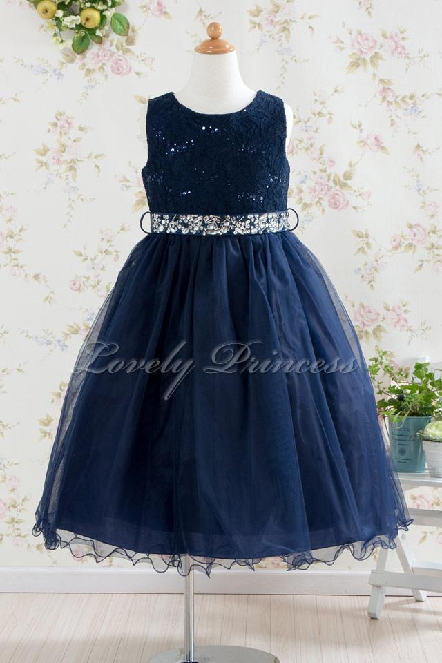 子供ドレス サフラン ネイビー