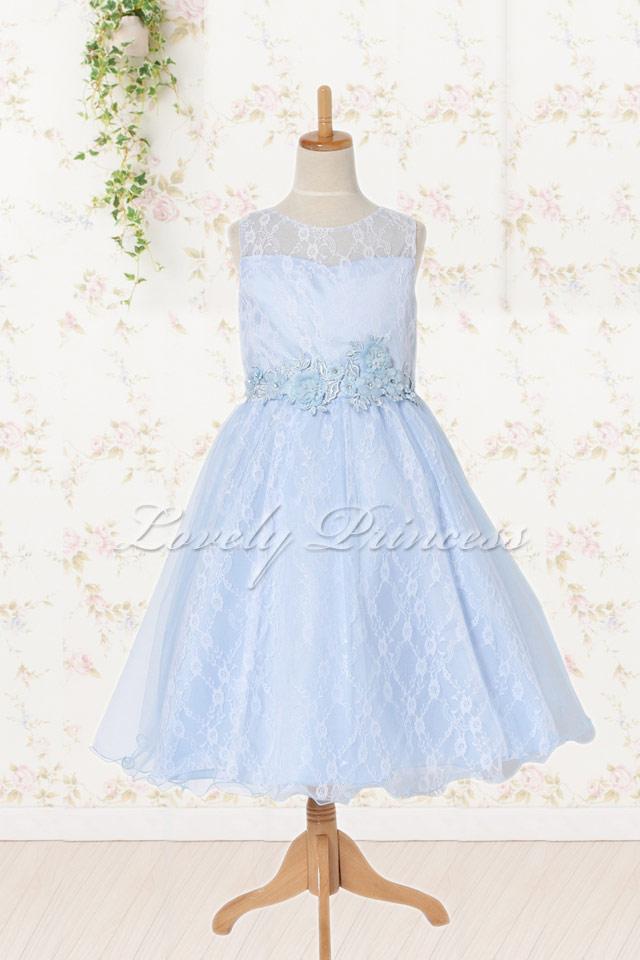 子どもドレス エヴァ ブルー