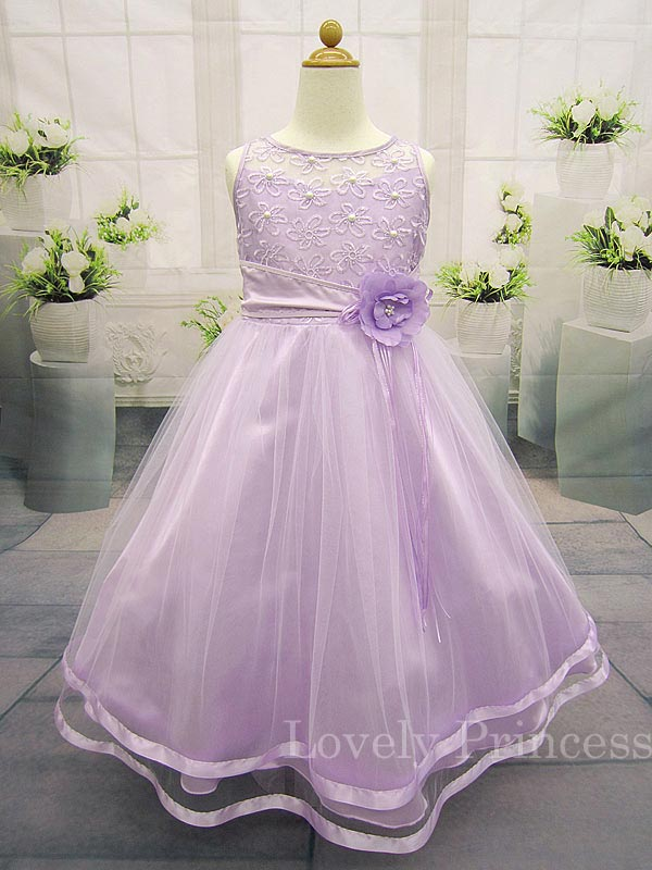 子供ドレス/ジュニアドレス パステル ライラック