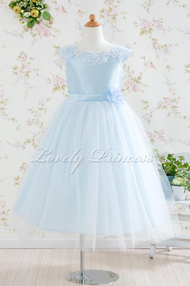 子供ドレス フェイス ブルー