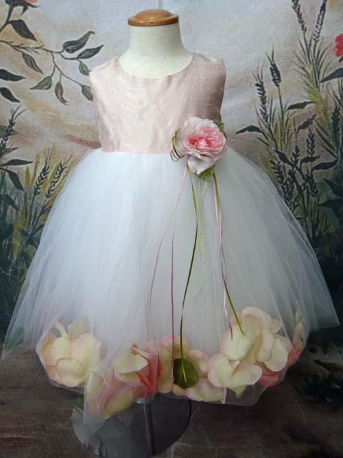 ベビードレス メリー(シルク) ピンク