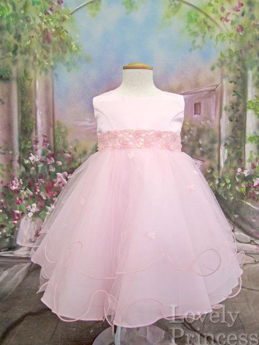 [完売品☆再入荷なし]ベビードレス クララ ピンク