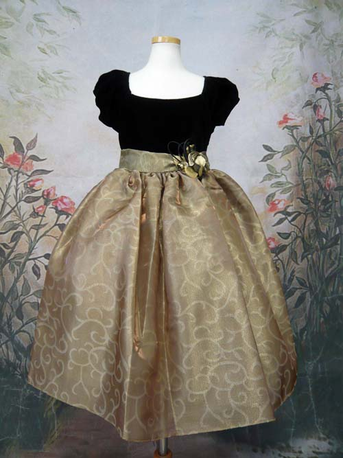 子供ドレス レイラ ゴールド