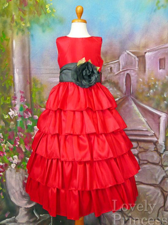 子供ドレス アナベル レッド