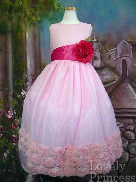 子供用ドレス マーゴット ピンク