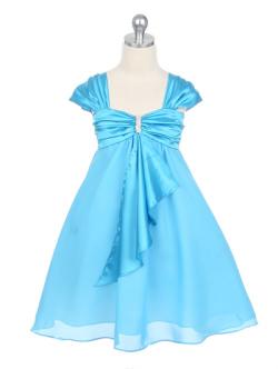 子供ドレス キャサリン アクアブルー