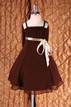 子供ドレス ドルチェ ブラウン1