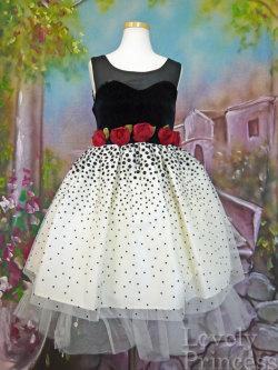 子供ドレス ステラ ブラック/アイボリー(BONNIE JEAN)