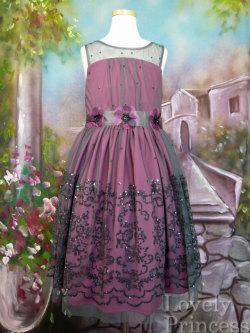 子供ドレス シェリー パープル(BONNIE JEAN)