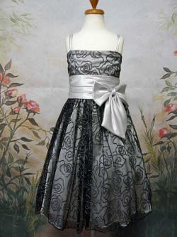 子供ドレス マーガレット シルバー