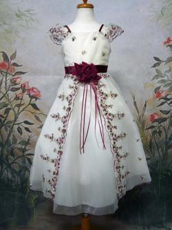 子供ドレス シンデレラ バーガンディ