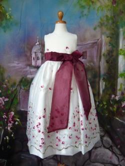 子供ドレス ケイト バーガンディ