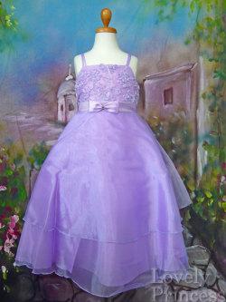 子供ドレス フローラルライラック