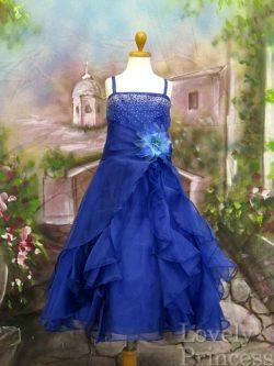 子供ドレス ヴァネッサ ロイヤルブルー