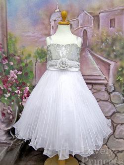 子供ドレス ビバリー シルバー